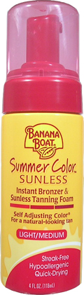 BANANA BOAT Summer Color Instant Bronzer and Sunless Tanning Foam Light/Medium 4oz/118ml
