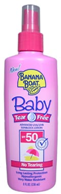 BANANA BOAT Baby Tear Free Advanced SPF50 UVA/UVB Sunblock Lotion 8oz/236ml
