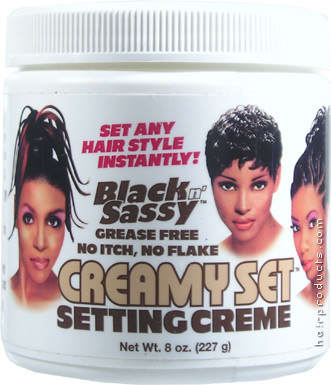Black Hair Gel. BLACK n SASSY Creamy Set