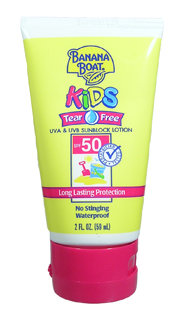 BANANA BOAT Kids Tear Free SPF 50 Sunblock Lotion 2oz/59ml
