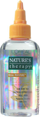 LOREAL Natures Therapy Mega Moisture Shine Serum for Very Dry, Chemically-Processed, Dull Hair 2oz/59ml