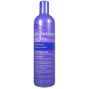 CLAIROL Professional Shimmer Lights Original Conditioning Shampoo for Gray, White, Highlighted and Light Blonde Tinted Hair 16oz / 473ml