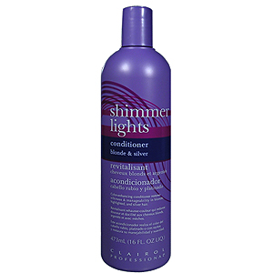 CLAIROL Professional Shimmer Lights Conditioner Color Enhancing Conditioner for Gray, White, Highlighted and Light Blonde Tinted Hair 16oz / 473ml