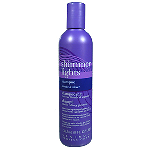 CLAIROL Professional Shimmer Lights Original Conditioning Shampoo for Gray, White, Highlighted and Light Blonde Tinted Hair 8oz / 237ml