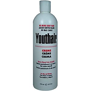 YOUTHAIR Creme for Men and Women with Hair Conditioner & Groomer Restore Natural Color Gradually 16oz/473ml