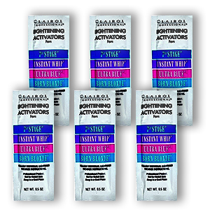 Clairol Professional Lightening Activators For 7th Stage Instant Whip Ultra Blue Born Blonde 0 5