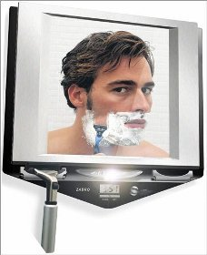 Zadro Lighted Fogless Shower Shaving Mirror W Wahl Wet Dry