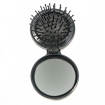BRUSH UPS Pop Up Travel Brush with Mirror Black