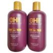 CHI Deep Brilliance Olive & Monoi Optimum Moisture Shampoo and Conditioner 12oz Duo