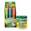 Crayola 4pc Bathtub Markers w /  Bath Dropz Set