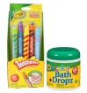 Crayola 5pc Twistable Crayons w/ Bath Dropz Set