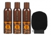 Body Drench Quick Tan Instant Spray 6 oz (Pack of 3) w/Geti Beauty Exfoliating Moroccan Scrub Mitt Black (1 Piece)