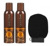 Body Drench Quick Tan Instant Spray 6 oz (Pack of 2) w/Geti Beauty Exfoliating Moroccan Scrub Mitt Black (1 Piece)