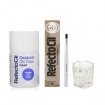 RefectoCil Light Brown Cream Hair Dye w/Oxidant 3% (10) Volume Liquid Developer, Silver Brush & Mixing Glass Dish Set