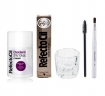 RefectoCil Light Brown Cream Hair Dye w / Oxidant 3% (10) Volume Cream Developer, Mascara Brush & Mixing Glass Dish Set