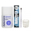 RefectoCil Blue Black Cream Hair Dye w / Oxidant 3% (10) Volume Liquid Developer, Mixing Brush & Mixing Glass Dish Set