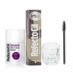 RefectoCil Natural Brown Cream Hair Dye w/Oxidant 3% (10) Volume Cream Developer, Mascara Brush & Mixing Glass Dish Set