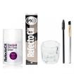 RefectoCil Natural Brown Cream Hair Dye w/Oxidant 3% (10) Volume Cream Developer, Mascara Brush, Gold Brush & Mixing Glass Dish Set