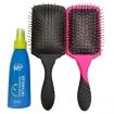 Wet Brush-Pro Paddle Detangler Brush - Black & Pink Duo Set w / Time Release Detangler 4oz