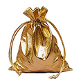 GIFT Rectangular Lame Drawstring Bag Metallic Gold 6� W x 14� H 30