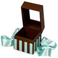 GETI BEAUTY Blue & Chocolate Square Box w /  Ribbon