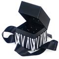 GETI BEAUTY Black Stripes Square Box w /  Ribbon