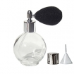 GETI BEAUTY Empty Refillable Perfume Glass Bottle with Black Mesh Atomizer 2.65oz / 78ml