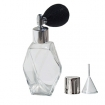 GETI BEAUTY Empty Refillable Perfume Diamond Shaped Glass Bottle with Black Antique Style Sprayer Top 2oz / 60ml