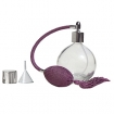 GETI BEAUTY Empty Refillable Perfume Round Glass Bottle with Purple Antique Style Sprayer Top & Tassel 4.33oz / 128ml