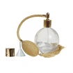 GETI BEAUTY Empty Refillable Perfume Round Glass Bottle with Gold Antique Style Sprayer Top & Tassel 4.33oz/128ml