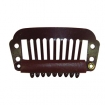 HAIRART 1 1 / 4 Inch Medium Hair Piece Clip Brown (Pack of 2) 25314