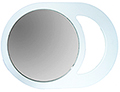 LUXOR Mod Mirror in White 1806W