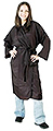 LUXOR Pro One Size Fits All Deluxe Customer Gown in Black  6051B