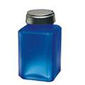 MENDA Pure Touch Liquid Pump Glass Bottle Frosted Blue 4 oz  35113