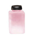 MENDA Pure Touch Liquid Pump Glass Bottle Frosted Pink 4 oz  35580