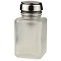 MENDA One Touch Liquid Pump Glass Bottle Clear Frosted 4 oz  35361