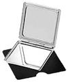 "SWISSCO 2.5"" Ultra Thin Compact Mirrors 3X Square Mirror  SW23"