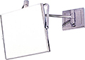 """SWISSCO 6"""" Square Two-Sided Chrome 7X Wall Extension Mirror  SW173"""
