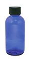 TRAVEL Cobalt Glass 4oz Bottle w / Dispensing Cap  25-401