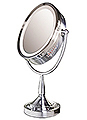 ZADRO Oval, Dual Sided, Lighted Swivel Vanity Make-Up Mirror OVLV68
