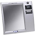 ZADRO Z'Fogless Lighted Fog-Free Shower Mirror with LCD Clock  Z200