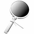 ZADRO Dual Lighted Swivel Hand Mirror with 1 X & 10 X Magnifications  FH10L