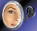 ZADRO Lighted Fluorescent Single Sided, Dual Arm Wall-Mount Make-Up Mirror  SW47 Satin Nickel