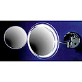 ZADRO Lighted Fluorescent Single Sided, Dual Arm Wall-Mount Make-Up Mirror  MSW37 Chrome