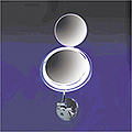 ZADRO Lighted Fluorescent Single Sided, Dual Arm Wall-Mount Make-Up Mirror  MSW47 Satin Nickel