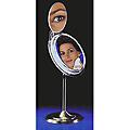 ZADRO Multi-Mag Surround Light Lighted Fluorescent Single Sided Pedestal Make-Up Mirror  MSA37 Chrome