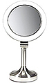 ZADRO SURROUND LIGHT Dual Sided, Lighted Fluorescent Pivoting, Pedestal Make-Up Mirror  SLV410