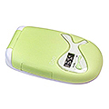 ZADRO LED Lighted Compact Mirror w /  LCD Clock & Flashlight  ISEE01LG Lime Green