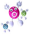ZADRO ShowerMan Water Resistant FM Portable / Shower Radio SHO01 Pink