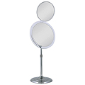 ZADRO 7X / 5X Dual Mirror Chrome Pedestal Vanity Mirror MA37